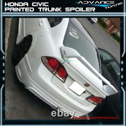 06-11 Civic Mugen Trunk Spoiler OEM Painted #NH700M Alabaster Silver Metallic