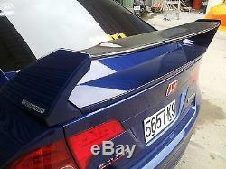 06-11Honda Civic FD FA CSX 4Dr Sedan Coupe Mugen RR Si Fiberglass Spoiler Wing