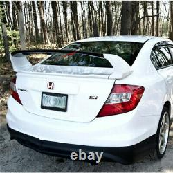 12-15 Honda Civic Mugen Style ABS Rear Trunk Spoiler Wing 4Pcs JDM