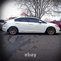 12-15 Honda Civic Mugen Style ABS Rear Trunk Spoiler Wing 4Pcs JDM