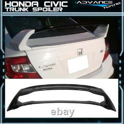 12-15 Honda Civic Mugen Style Trunk Spoiler Painted Crystal Black Pearl ABS