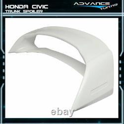 12-15 Honda Civic Mugen Style Trunk Spoiler Painted #NH578 Taffeta White