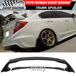 12-15 MUGEN Style Rear Trunk Spoiler Wing ABS Bodykit 4Pcs Fit Honda Civic 4Dr
