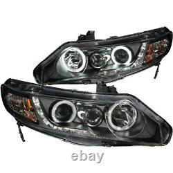 121454 Anzo Headlight Lamp Driver & Passenger Side New Sedan LH RH for Civic