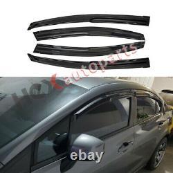 4pcs Sun Rain Window Visor Guard for 2012 2013 2014 2015 Honda Civic Mugen Style