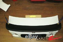 92-95 Honda Civic Sedan EG JDM Mugen Style Trunk Spoiler Rear Wing LED US CANADA