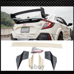 ABS Rear Trunk Spoiler Wings For 2016-2020 Honda Civic Mugen FK8 FK7 Hatchback