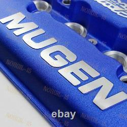 BLUE MUGEN Racing Rocker Valve Cover for Honda Civic B16 B17 B18 VTEC B18C GSR