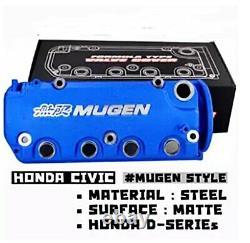Blue MUGEN Racing Engine Valve Cover For HONDA Civic D16Y8 D16Y7 VTEC SOHC