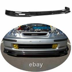 Carbon Fiber Mugen Front Bumper Lip Spoiler Splitter For Honda Civic EK 1996-00