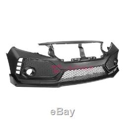 EOS Type R Style Front Bumper Cover Lower Lip For 16-Up Honda Civic Coupe Sedan
