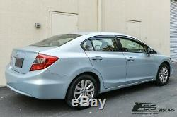 EOS Visors For 12-15 Honda Civic Sedan JDM MUGEN Side Vents Window Rain Guards