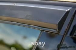 EOS Visors For 16-Up Honda Civic Hatchback JDM REAL MUGEN Rain Guard Deflectors