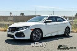 EOS Visors For 16-Up Honda Civic Hatchback MUGEN CLIP-ON Side Window Rain Guards