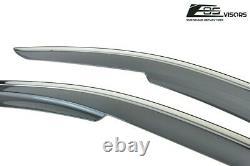 EOS Visors For 16-Up Honda Civic Sedan MUGEN Side Window Rain Guards Chrome Trim