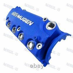 Engine Valve Cover For Honda Civic D16Y8 D16Y7 VTEC SOHC Blue MUGEN Style Racing