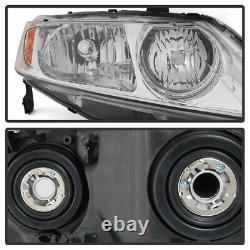 FACTORY STYLE For 06-11 Honda Civic 4DR LH+RH Replacement Headlight Assembly