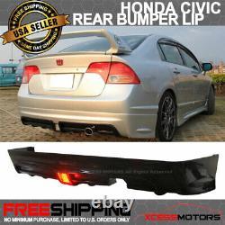 Fit 06-11 Civic 4Dr Sedan Mugen Type RR (PP) Rear Bumper Lip Spoiler Propylene