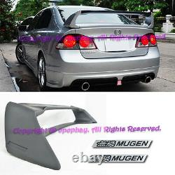 Fit 06-11 Civic CSX 4Dr Sedan JDM Mugen RR ABS Spoiler Wing FD2 FA2 With BK Emblem