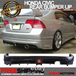 Fit 06-11 Civic Sedan Mugen RR Rear Bumper Lip Spoiler LED Brake Lite PU