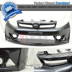 Fit 12-14 Civic Sedan 4D ABS Mugen Style Front Bumper Conversion USDM Only