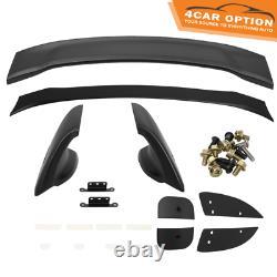 Fit 12-15 Honda Civic 4Dr Mugen Style Trunk Spoiler Unpainted ABS 4Pcs