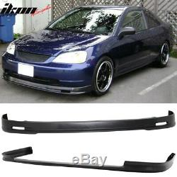 Fits 01-03 Civic 4Dr Mugen Style Front + TR Style Rear Bumper Lip Spoiler PP