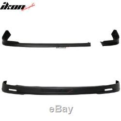Fits 01-03 Honda Civic EM2 2DR Mugen Style Front + NEW TR Style Rear Bumper Lip