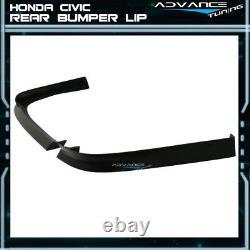Fits 01-03 Honda Civic EM2 2DR Mugen Style Front + NEW TR Style Rear Bumper Lip