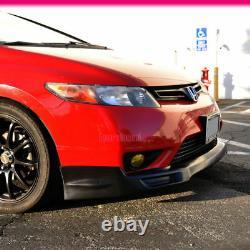 Fits 06-08 Honda Civic 2Dr Coupe Mugen Style Front Bumper Lip PU