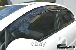Fits 06-11 4Dr Sedan Civic Mugen 2 Style Window Visors Rain Guard FD2 FA2 CSX Si