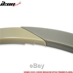 Fits 06-11 Civic Mugen RR Style Front Bumper + Fender Flare + LED DRL Lights