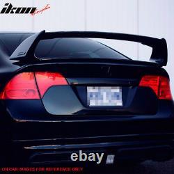Fits 06-11 Honda Civic 4Dr 4Door Mugen ABS Trunk Spoiler Painted Rallye Red