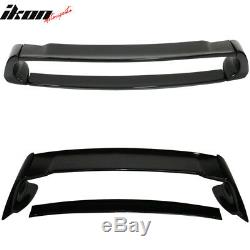 Fits 06-11 Honda Civic 4Dr Trunk Spoiler Wing Mugen ABS Plastic Glossy Black
