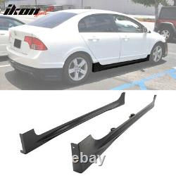 Fits 06-11 Honda Civic Mugen RR Style Side Skirts Unpainted PP