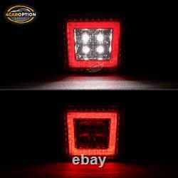 Fits 06-11 Honda Civic Sedan 4Dr Mugen RR Rear Bumper Lip & 3RD LED Brake Lamp