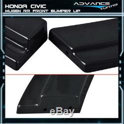 Fits 06-11 Honda Civic USDM MU RR 4Dr Black Front Bumper Lip Spoiler ABS