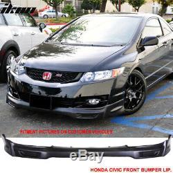 Fits 09-11 Honda Civic 2-Door Coupe Mugen Front Bumper Lip Spoiler PU