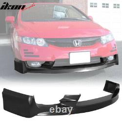 Fits 09-11 Honda Civic 4Dr Sedan PU Mugen Front Bumper Lip Spoiler