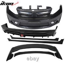 Fits 12-14 Civic Mugen RR Style Front Bumper + Rear Lip + Side Skirt + Spoiler