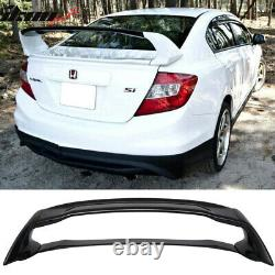 Fits 12-15 Civic Mugen Style ABS Trunk Spoiler Painted Crystal Black Pearl