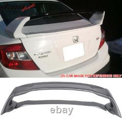Fits 12-15 Civic Mugen Style ABS Trunk Spoiler Painted Modern Steel Metallic