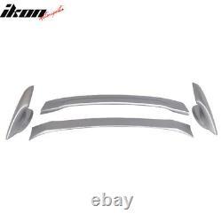 Fits 12-15 Civic Mugen Trunk Spoiler Painted #NH700M Alabaster Silver Metallic