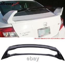 Fits 12-15 Civic Sedan Mugen Trunk Spoiler Painted #NH731P Crystal Black Pearl