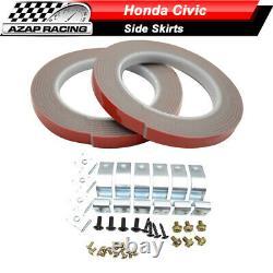 Fits 12-15 Honda Civic 9th Sedan Mugen RR Style Side Skirts Rocker Panels Pair