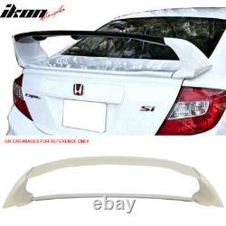 Fits 12-15 Honda Civic Mugen Style ABS Rear Trunk Spoiler Wing 4Pcs JDM