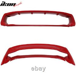Fits 12-15 Honda Civic Mugen Style ABS Trunk Spoiler Painted Rallye Red