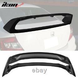 Fits 12-15 Honda Civic Sedan 4Dr Mugen Style Rear Trunk Spoiler Carbon Fiber