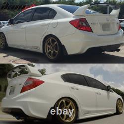 Fits 12-15 Honda Civic Sedan Mugen Trunk Spoiler Carbon Fiber Top Piece 4PC CF