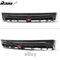 Fits 13-15 Civic Mugen RR Style Rear Lip with LED 3rd Brake Lamp/Rear Fog Light